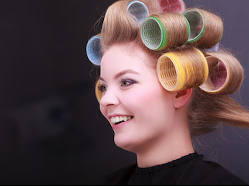 Styling short & medium length hair Rollers Setting